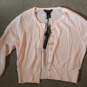 Crop cardigan light pink with sparkles